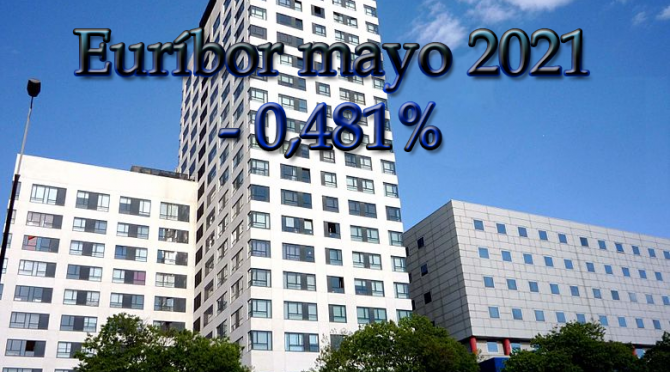 El Euríbor cierra mayo de 2021 con el valor -0,481%